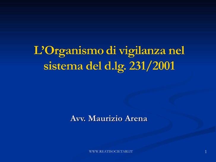 Avv. Maurizio Arena WWW.REATISOCIETARI.IT