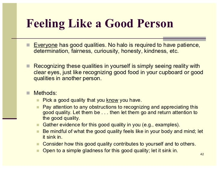 the major qualities of a good person essay