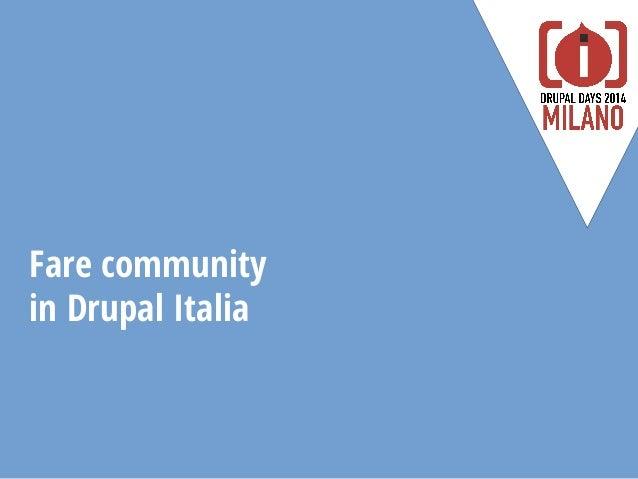 Fare community in Drupal Italia