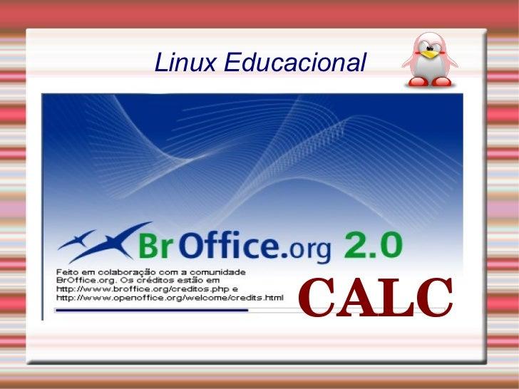 Linux Educacional CALC