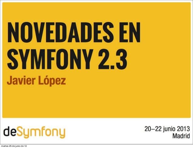 Slides changes symfony23