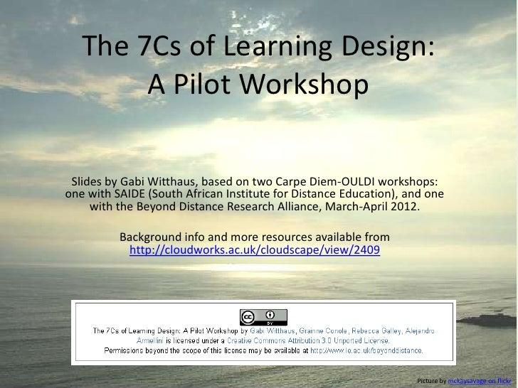 7Cs Learning Design Generic Workshop Slides