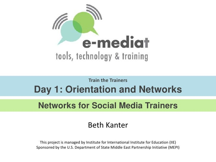 E-Mediat: Day 1 Orientation and Networks