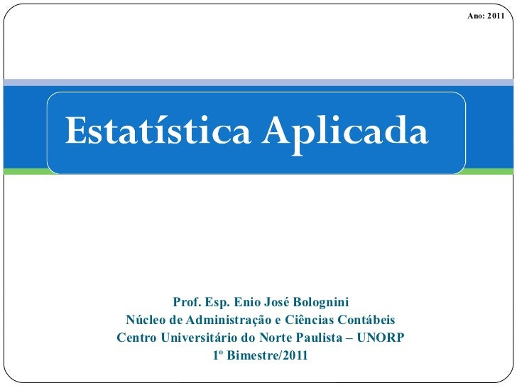 Slides de estatística aplicada