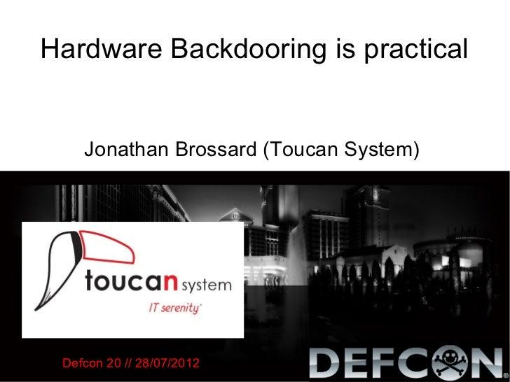 [Defcon] Hardware backdooring is practical