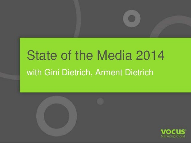 State of the Media Report 2014 (Webinar)