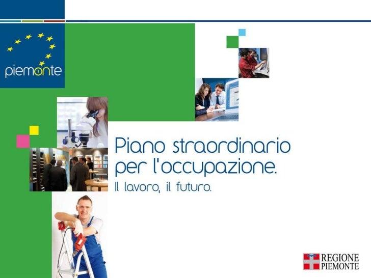 Slides di presentazione piano straordinario occupazione