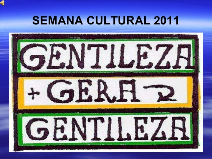 Slide semana cultural