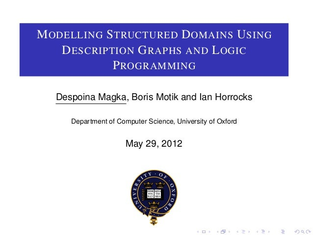 Modelling Structured Domains with Description Graphs and Logic Programming
