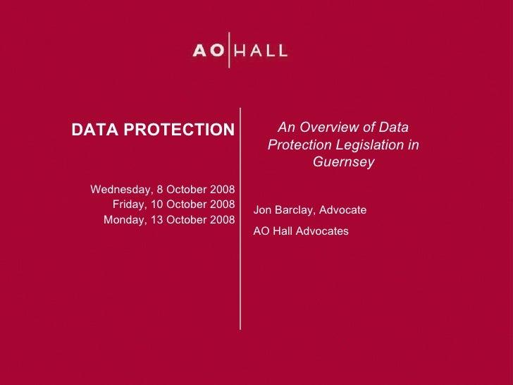Guernsey Data Protection Legislation