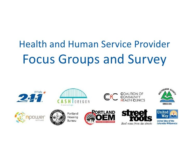 Health and Human Service ProviderFocus Groups and Survey