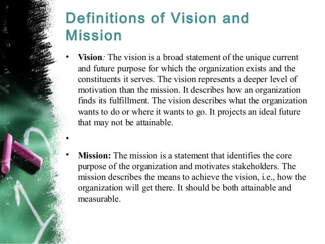 personal vision statements leadership