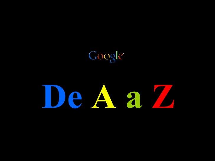 Google De A a Z