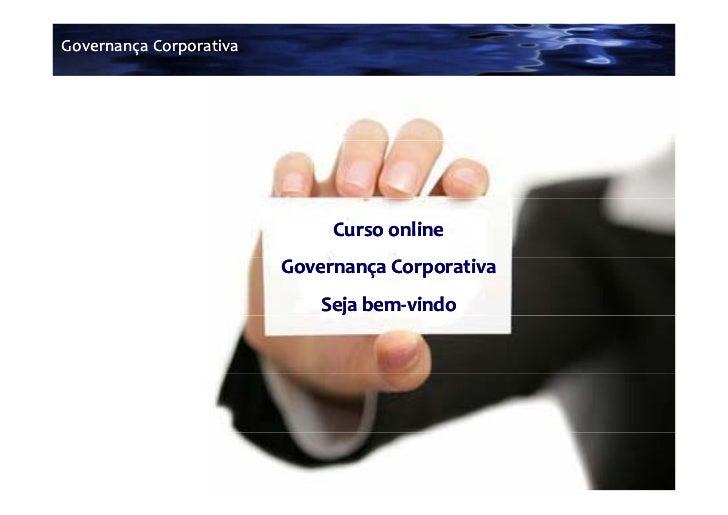 GovernançaCorporativa                              Cursoonline                         GovernançaCorporativa           ...