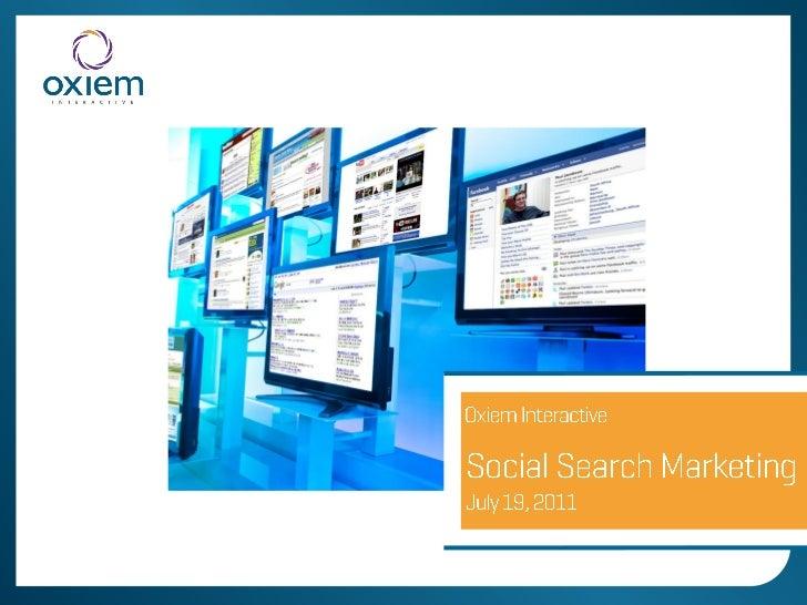 Integrate Social Media & Search Marketing