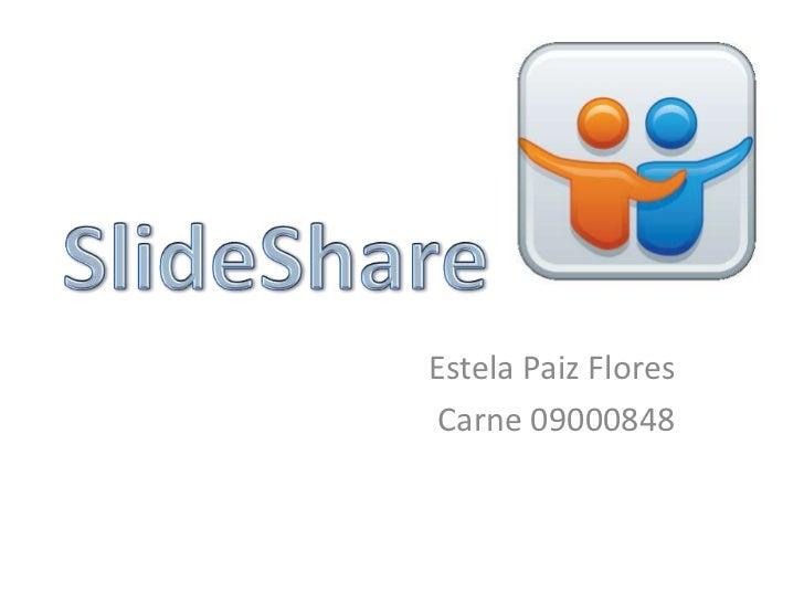 Estela Paiz FloresCarne 09000848