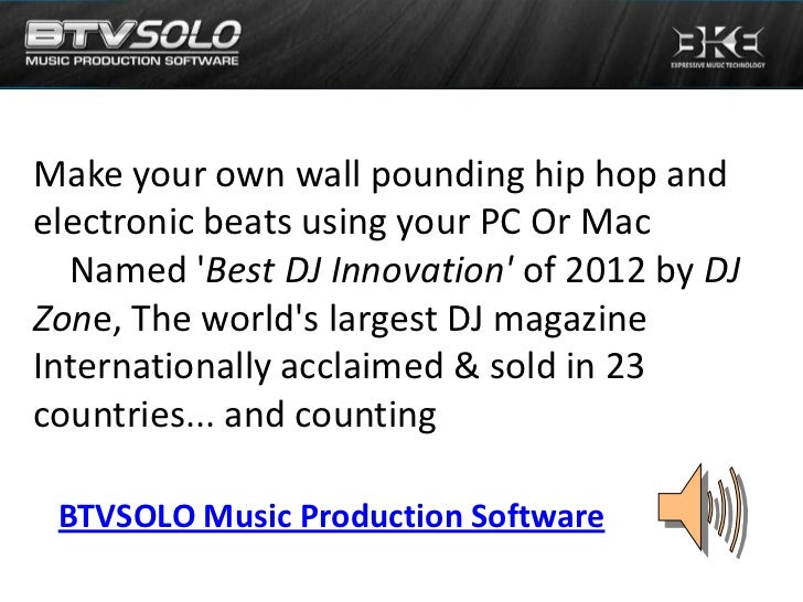 Make your own wall pounding hip hop andelectronic beats using your PC Or Mac  Named Best DJ Innovation of 2012 by DJZone, ...