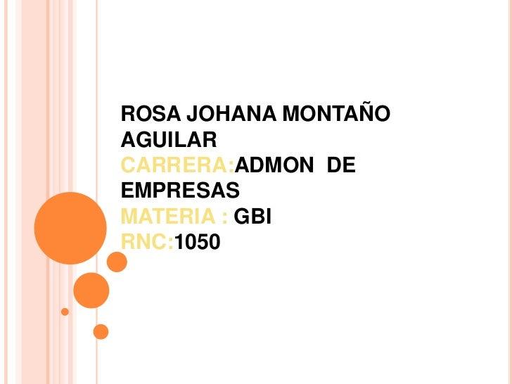 ROSA JOHANA MONTAÑOAGUILARCARRERA:ADMON DEEMPRESASMATERIA : GBIRNC:1050