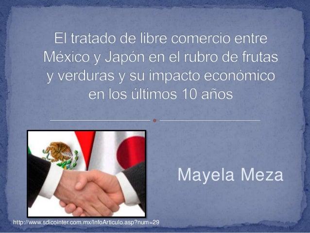tratado de libre comercio mexico japon