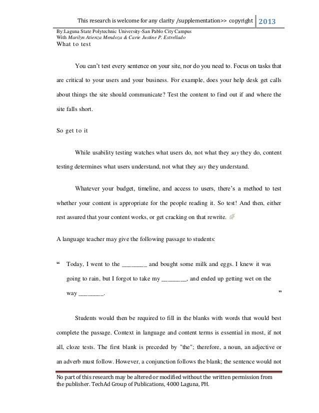 English thesis