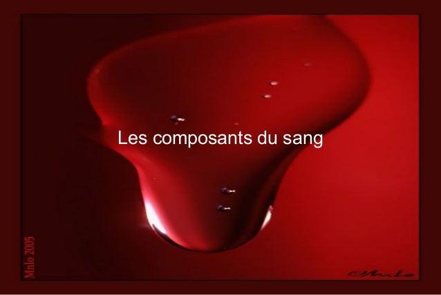Les composants du sang