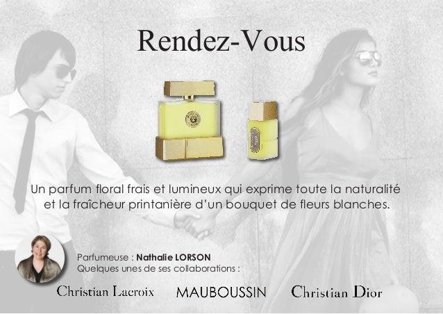 Rendez-Vous Un parfum floral frais et lumineux qui exprime toute la naturalité et la fraîcheur printanière d'un bouquet de...