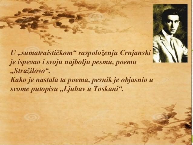 Milos Crnjanski poezija sumatra