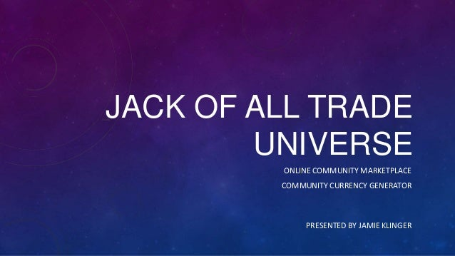 JoatU.com - Jack of all trade Universe - MVP
