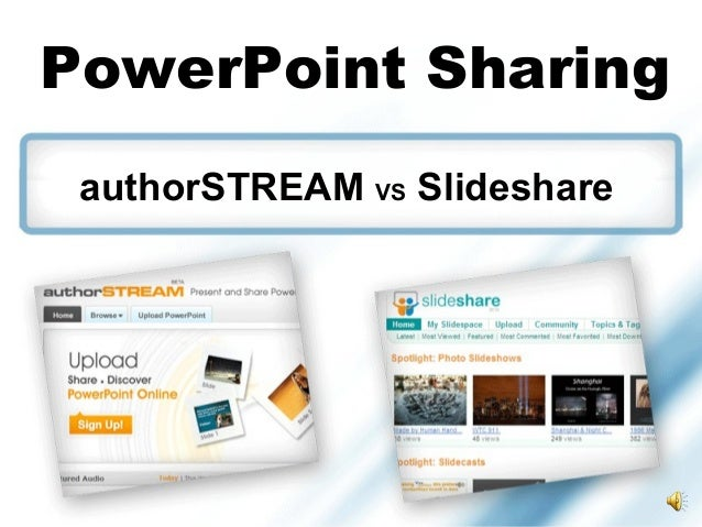 C Muirchertach Oden PowerPoint Sharing authorSTREAM VS Slideshare
