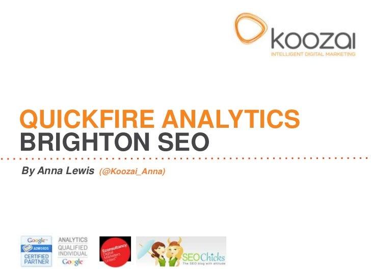 Quickfire Analytics - 7 Free Google Analytics Dashboards
