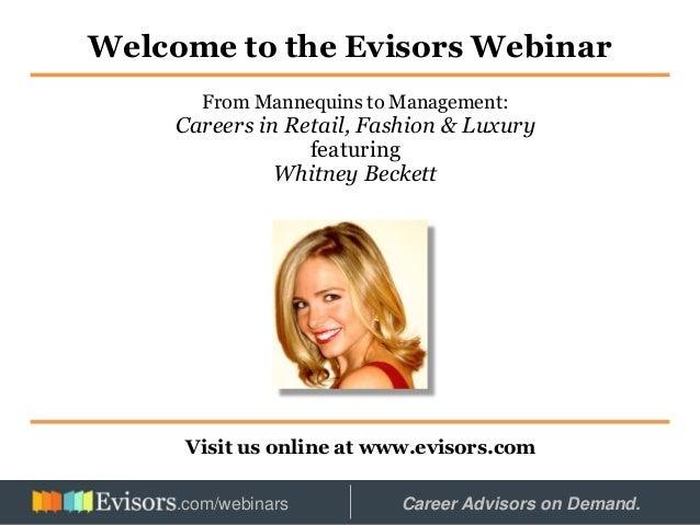 Careers in Retail & Luxury