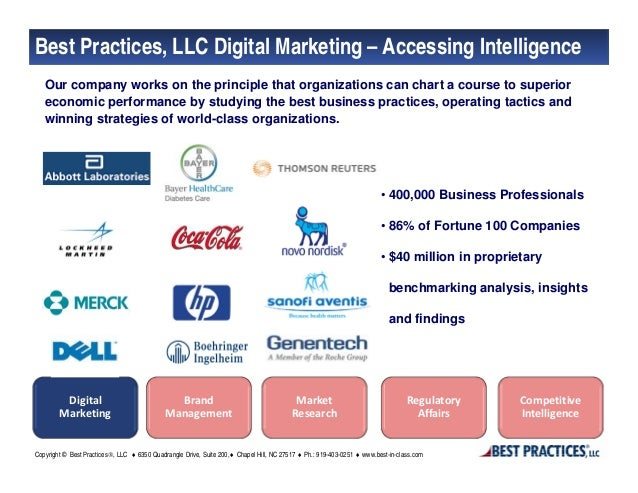 Best Practices, LLC Digital Marketing – Accessing Intelligence   Our company works on the principle that organizations can...