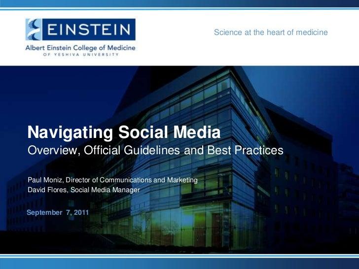 Albert Einstein College of Medicine: Navigating Social Media