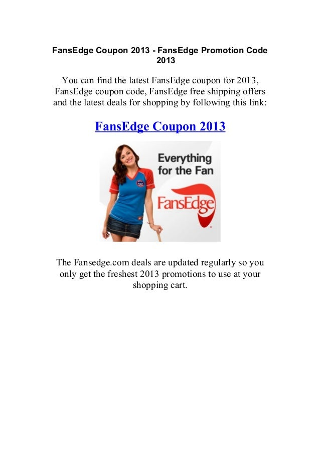 Fansedge coupon code