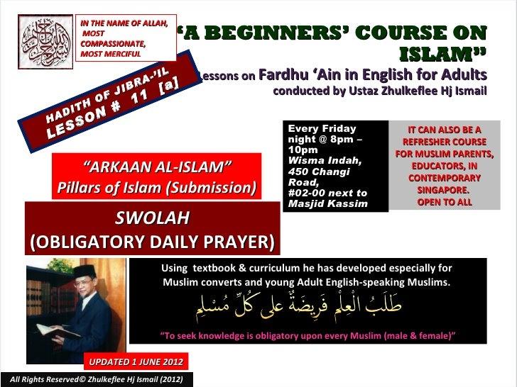 [Slideshare] fardh'ain-lesson#11[a]-arkaan-ul-islam-(2)swolah-[a]-(1-june-2012)