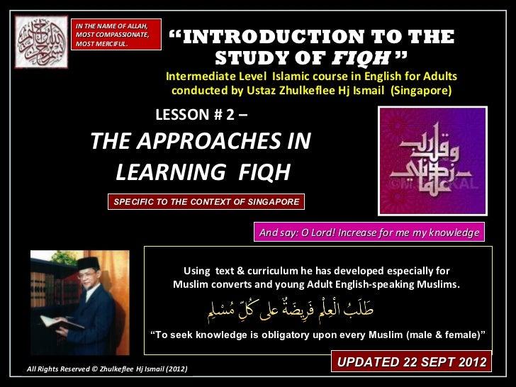 [Slideshare] fiqh-course-lesson #2- (sept-2012-batch) -(22-sept-2012)