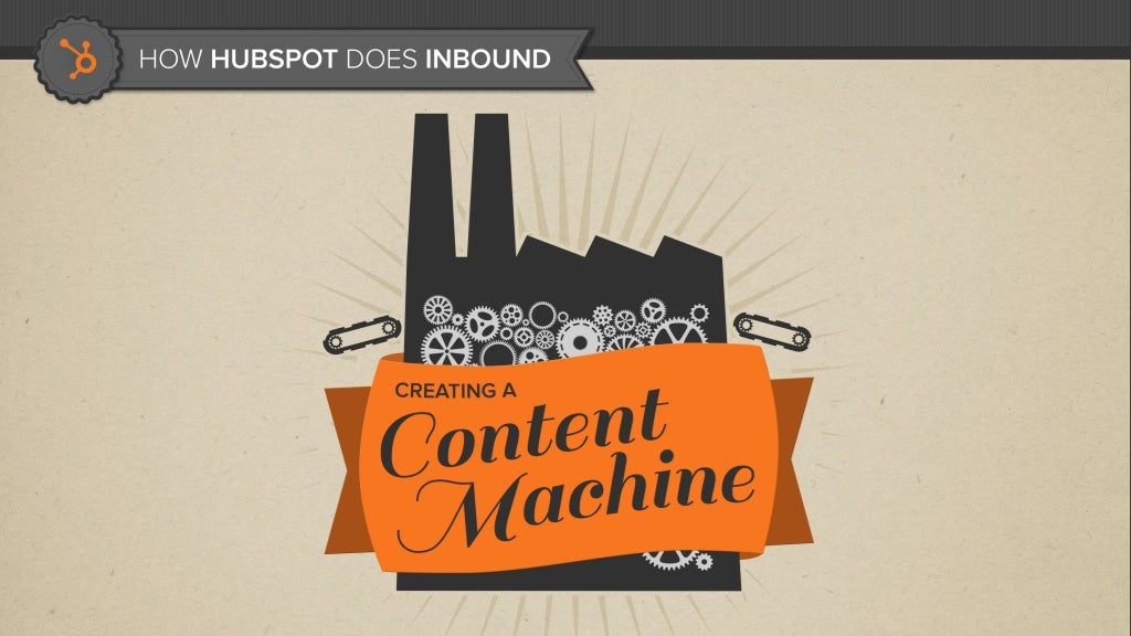 How HubSpot Does Inbound: Creating a Content Machine