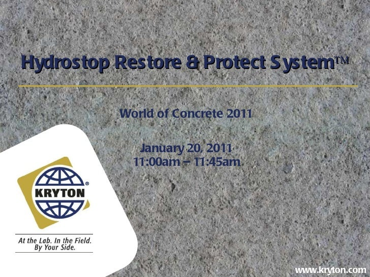 Hydrostop: Restore and Protect System