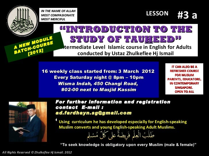 (Slideshare lesson#3 a)tauhid-course-2012.pptx