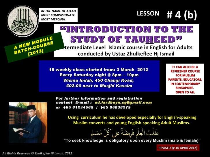 [Slideshare lesson#4b-cont'd)tauhid-course-2012.pptx-