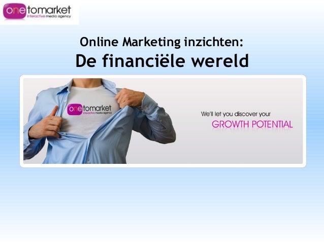 Online Marketing inzichten: De financiële wereld