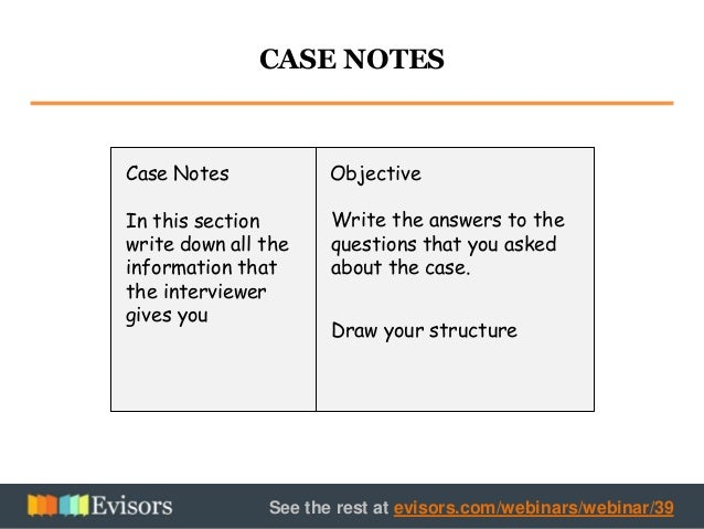 practice case studies for consulting interviews