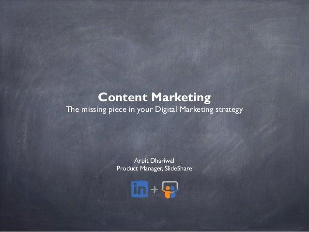 Content Marketing - NASSCOM Marketing Masterclass