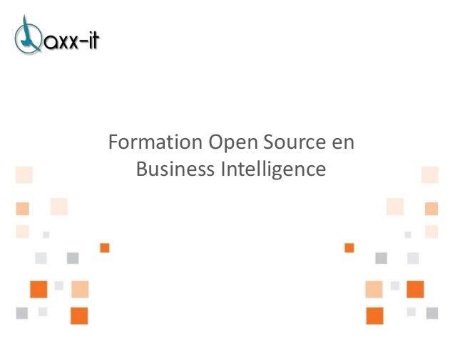 Formation Open Source en   Business Intelligence