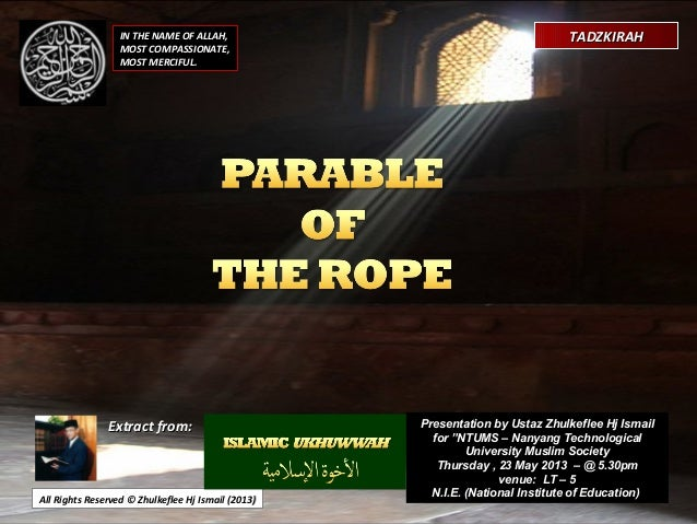 [Slideshare] parable-of-rope