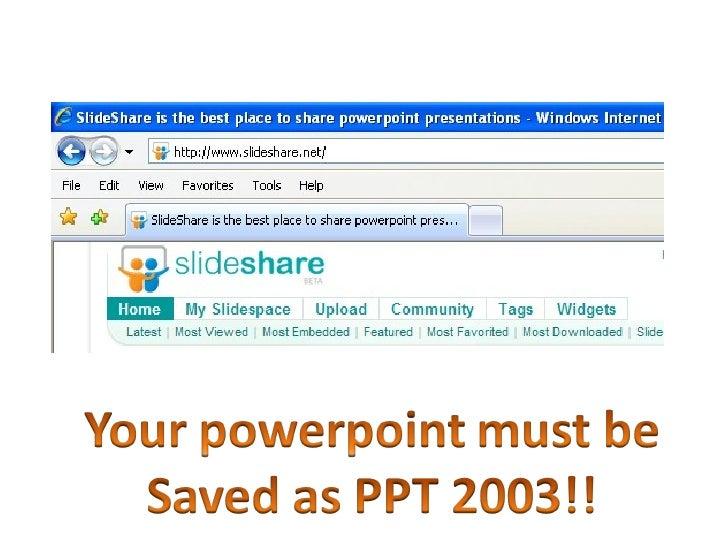 Slideshare Ppt 2003