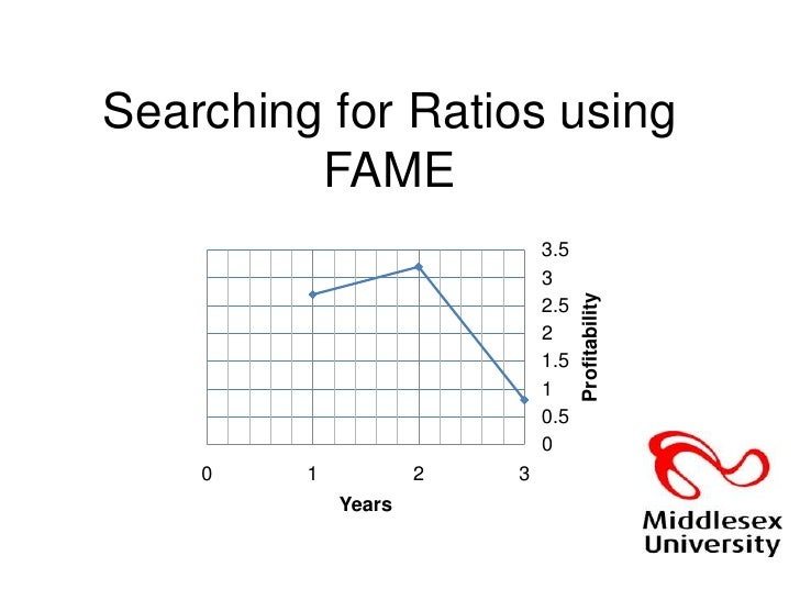 Searching for Ratios using FAME<br />