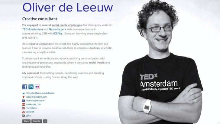 """Social media inzet bij TEDxAmsterdam - hoofdredacteur Oliver de Leeuw (12-03-2012) """"Social Media Voor Congressen"""""""