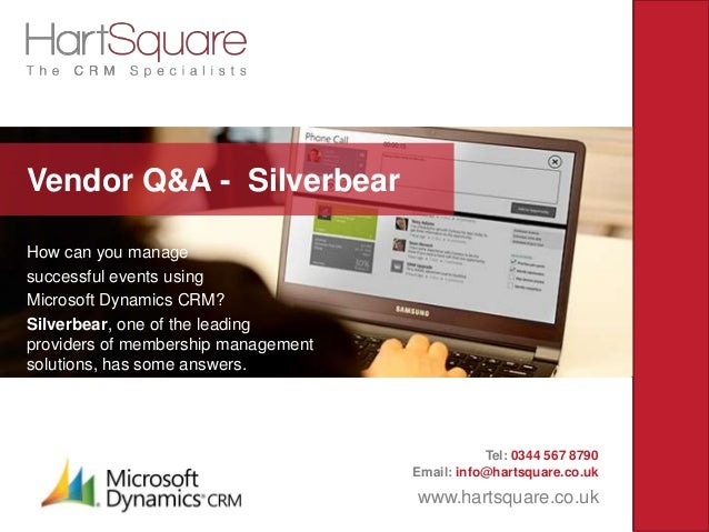 How can you manage successful events using Microsoft Dynamics CRM? Silverbear, one of the leading providers of membership ...