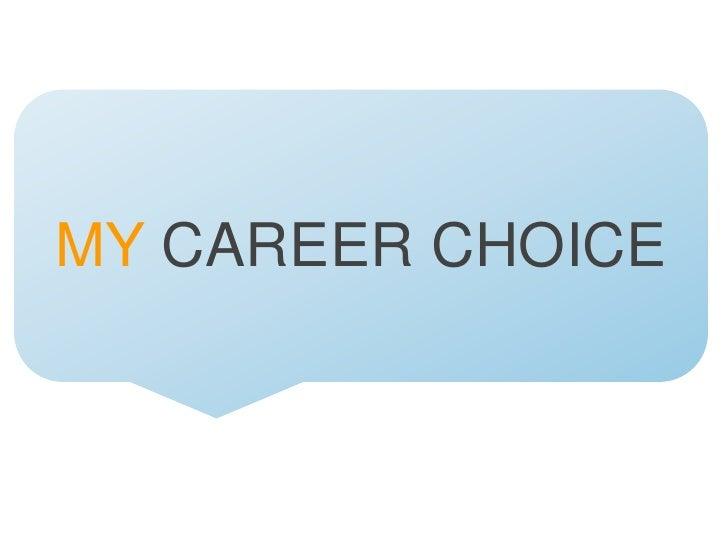 Career choice workshop